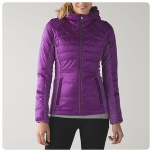 LULULEMON purple down for a run jacket